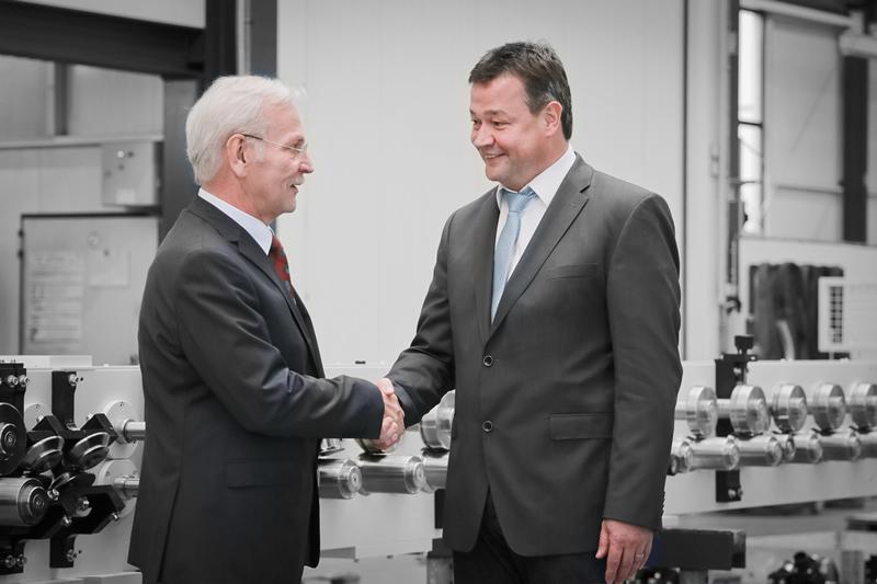 Bisheriger und neuer Geschäftsführer der HPT: Jürgen Willwacher und Torsten Müller (von l. nach r.)