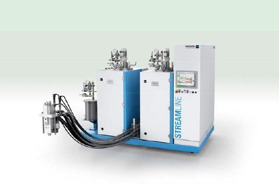 STREAMLINE-Dosiermaschinen zur Herstellung faserverstärkten Strukturbauteilen mit dem HP-RTM-Verfahren